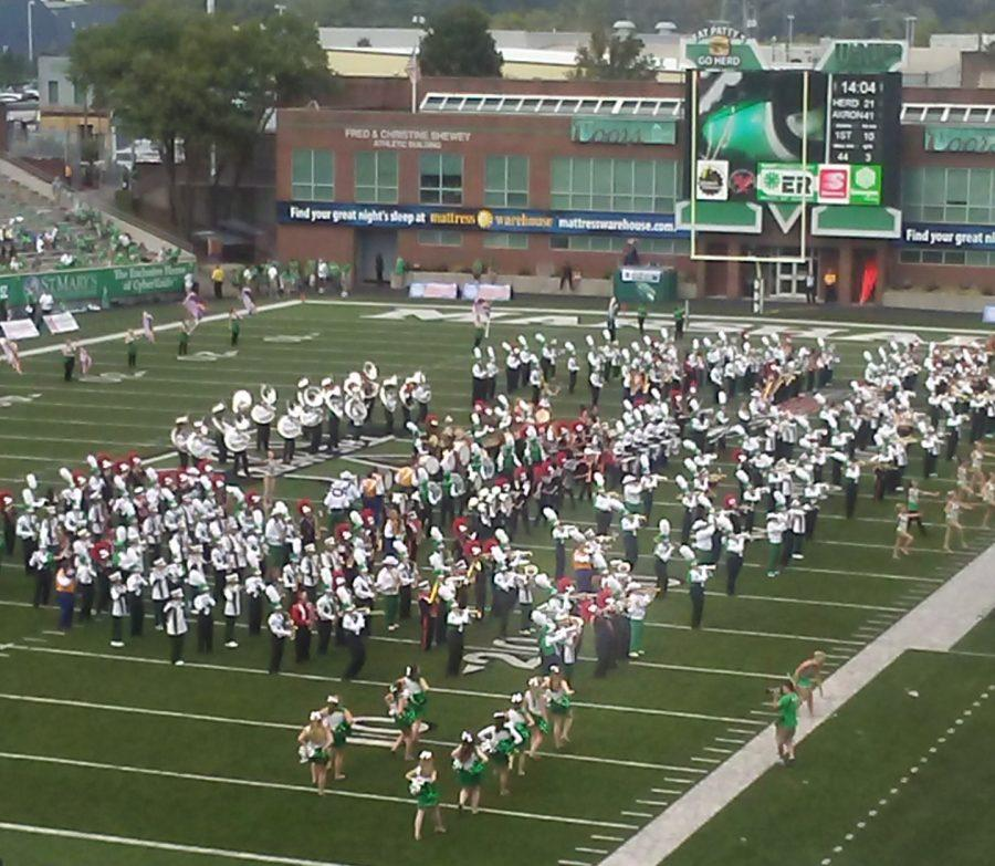 Band Students from Marshall University, Greenbrier West, and six other high schools in West Virginia.