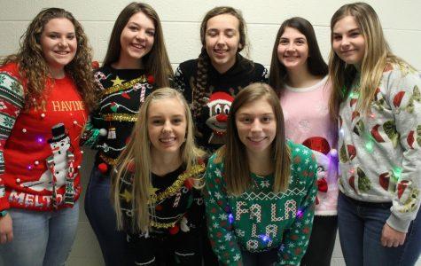 Ugly Christmas shirt sweater and sock Day!