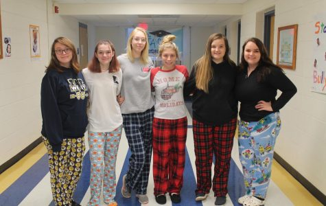 Christmas Spirit Week Pajama Day
