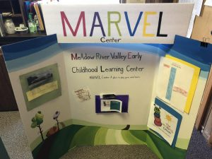 Information board for the Marvel Center