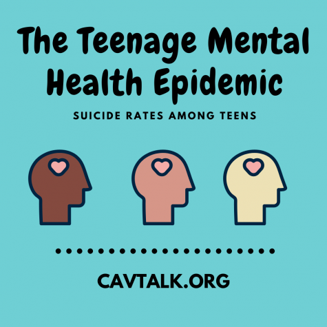 The Teenage Mental Health Epidemic Cavtalk Canva infographic Lee Cline
