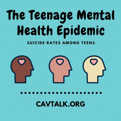 The Teenage Mental Health Epidemic Cavtalk Canva infographic Lee Cline