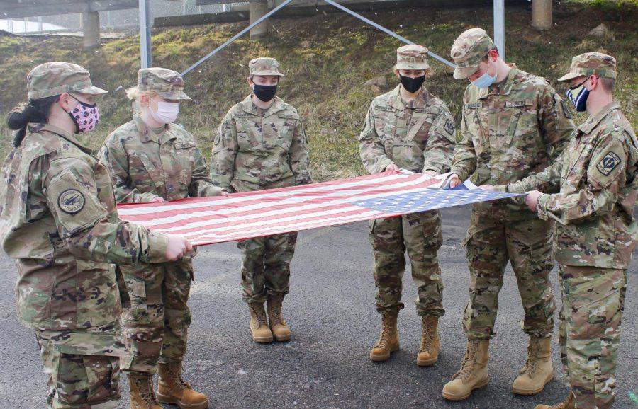 Cavalier Battalion Retires Old Flags